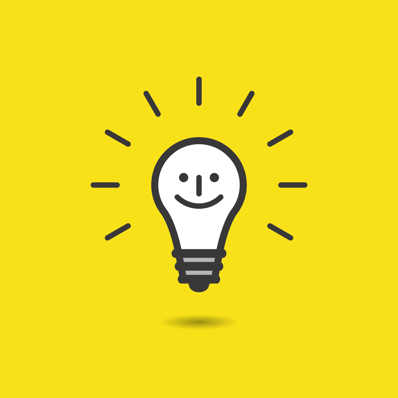 Smile face bulb